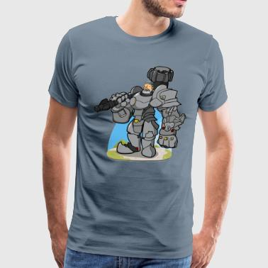 100% German robot pai - Men's Premium T-Shirt