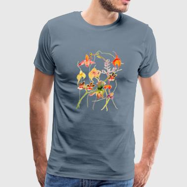 Orchids painting desi - Men's Premium T-Shirt