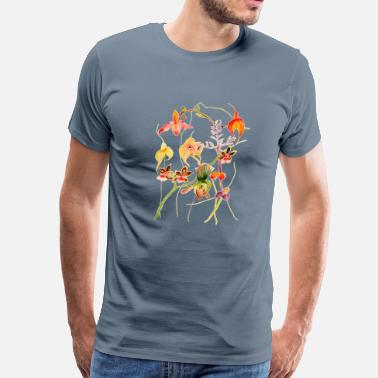 Orchid Orchids painting desi - Men's Premium T-Shirt