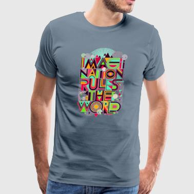 Dot Imagination painting  - Men's Premium T-Shirt