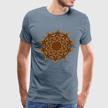 Gold mandala design 29 - Men's Premium T-Shirt