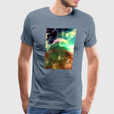 Meanwhile, in the colorful universe - Men's Premium T-Shirt