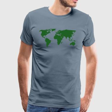 World Maps - Men's Premium T-Shirt