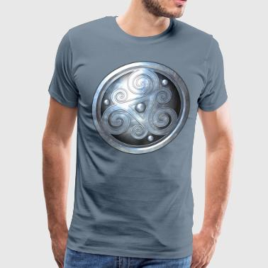 Silver Celtic Triskelion - Men's Premium T-Shirt