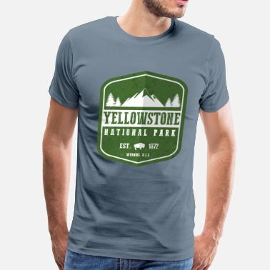 Yellowstone National Park Wyoming Yellowstone National Park - Men's Premium T-Shirt