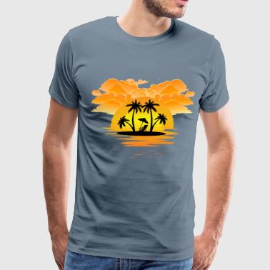 Cute Summer Sunset Design - Men's Premium T-Shirt