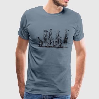 Meerkats - Men's Premium T-Shirt