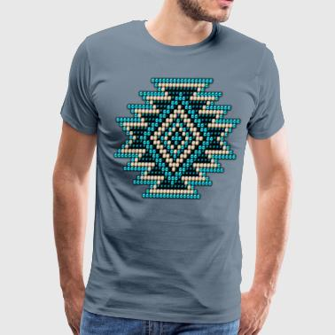 Seed Bead Turquoise Native Sunburst - Men's Premium T-Shirt