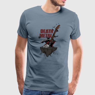 Classic Rock N Roll Death Metal - Guitar Crow Skull Undead Gift ideas - Men's Premium T-Shirt