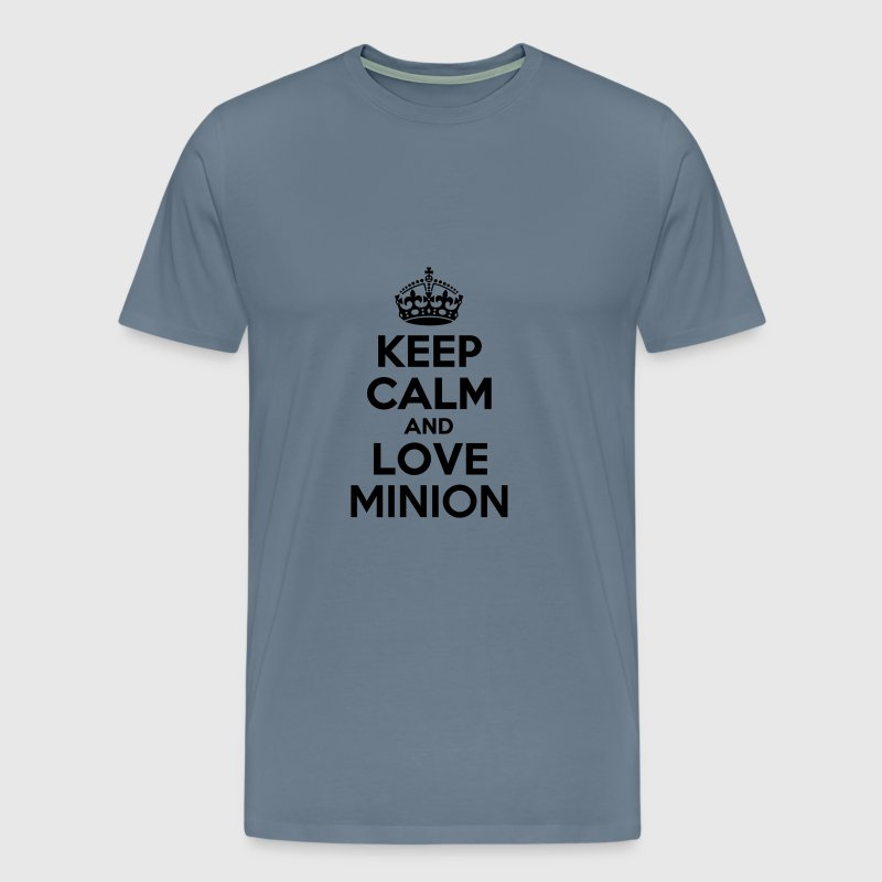 Keep calm and love minion - Men's Premium T-Shirt