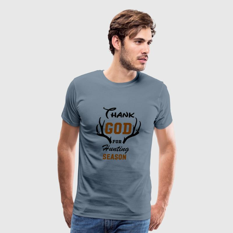 Thank God for Hunting Season Graphic T-shirt - Men's Premium T-Shirt