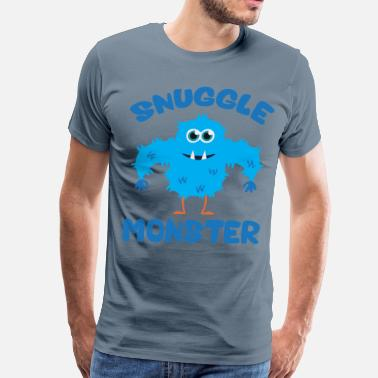 Snuggle Snuggle Monster (Blue) - Men's Premium T-Shirt