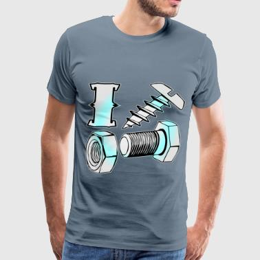 Screw Bolts I Screw, Nut & Bolt (x2)  - Men's Premium T-Shirt