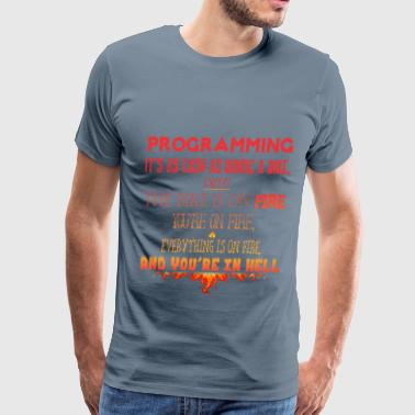 Programmer - Programming it's as easy as riding a  - Men's Premium T-Shirt