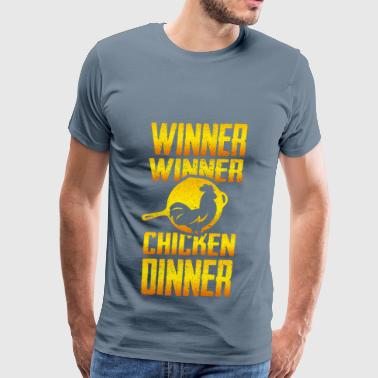 pubg winner chicken dinne - Men's Premium T-Shirt