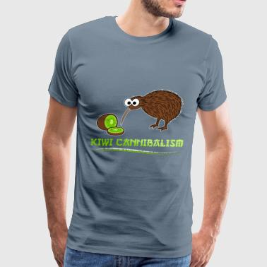 Kiwi bird - Kiwi Cannibalism - Men's Premium T-Shirt