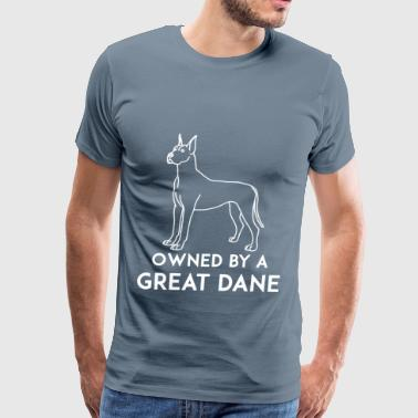 Great dane - Owned by a great dane - Men's Premium T-Shirt