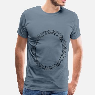 Oval Shapes Oval Flourish Frame 2 - Men's Premium T-Shirt