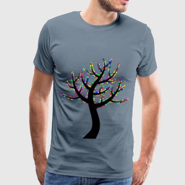 Colorful Valentine Hearts Tree 2 - Men's Premium T-Shirt