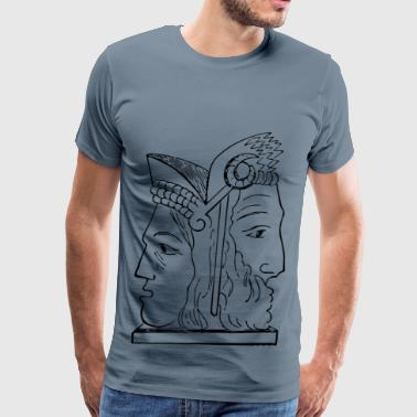 Janus s head - Men's Premium T-Shirt