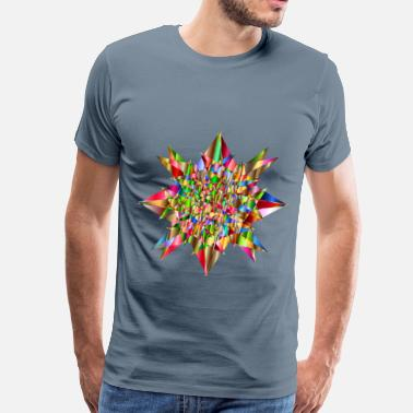 Geometric Psychedelic Colorful Geometric Star 4 - Men's Premium T-Shirt