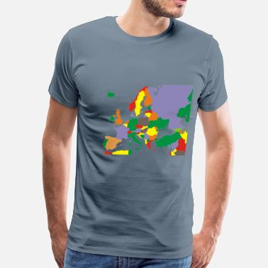 Europe Map Political Map Of Europe Restored - Men's Premium T-Shirt