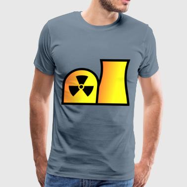 Nuclear power plant map symbol - Men's Premium T-Shirt