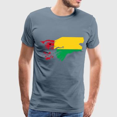 Guinea Bissau Flag Map - Men's Premium T-Shirt
