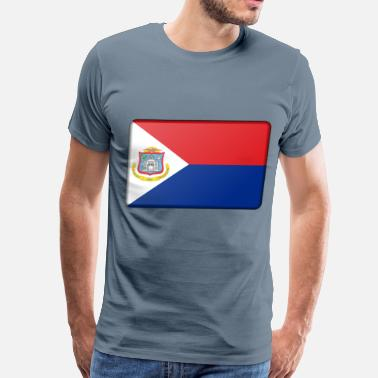 Sint Maarten Flag of Sint Maarten (bevelled) - Men's Premium T-Shirt