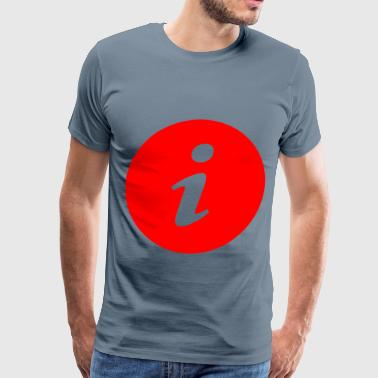 Info Symbol in Circle - Men's Premium T-Shirt