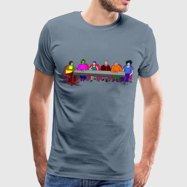 Meeting Table colorful - Men's Premium T-Shirt