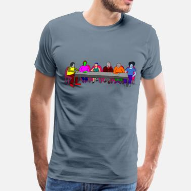 Meeting Table Meeting Table colorful - Men's Premium T-Shirt