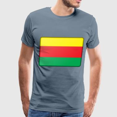 Syrian Flag Flag of Syrian Kurdistan (bevelled) - Men's Premium T-Shirt