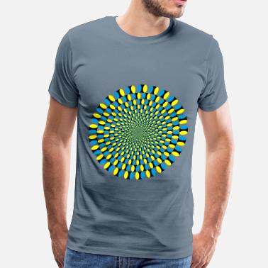 Hallucination Optical Illusion Vortex - Men's Premium T-Shirt