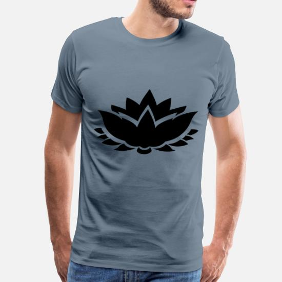 Lotus Flower Silhouette Mens Premium T Shirt Spreadshirt