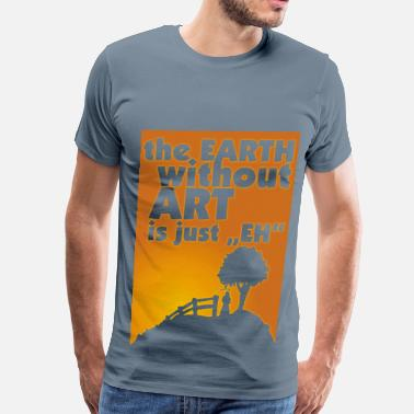 Earth Without Art earth without art..._violet - Men's Premium T-Shirt