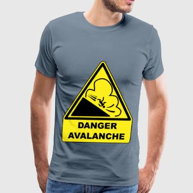 Avalanche warning sign - Men's Premium T-Shirt