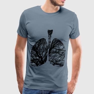 Green Branch Lungs Branches - Men's Premium T-Shirt