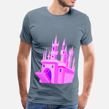 12 Fantasy Fairytale castle 12 - Men's Premium T-Shirt