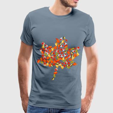 Autumn Maple Leaf Montage - Men's Premium T-Shirt