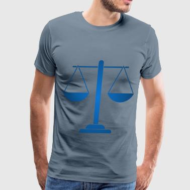 Scale Remix of Justice Scales Silhouette 2 - Men's Premium T-Shirt