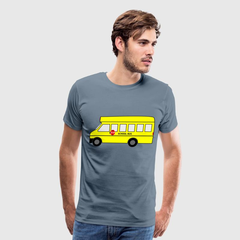 Moving School Bus Animated SVG Clipart Free Download - Men's Premium T-Shirt
