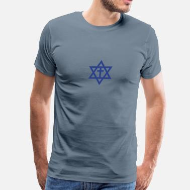 Jewish Star VA044 Messianic Jewish - Men's Premium T-Shirt