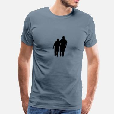 Mosey Strolling Couple - Men's Premium T-Shirt