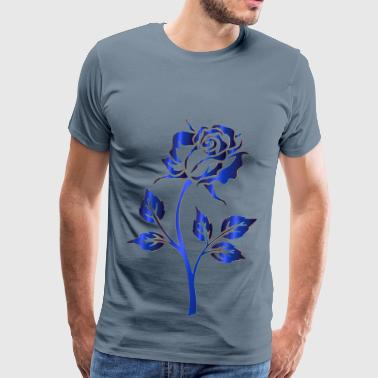 Azure Azure Rose Silhouette No Background - Men's Premium T-Shirt