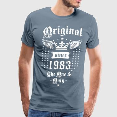 Original Since 1983 The One and Only Crown Wings - Men's Premium T-Shirt