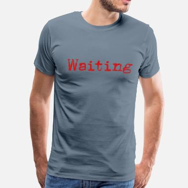 Sonnet Waiting... Poetry Book English - Men's Premium T-Shirt