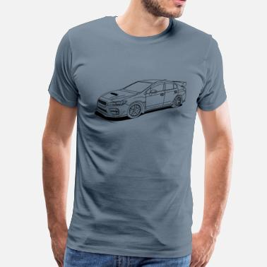 Wrx Subaru wrx sti outlines - Men's Premium T-Shirt