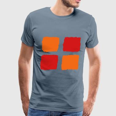 Red squares 1 - Men's Premium T-Shirt