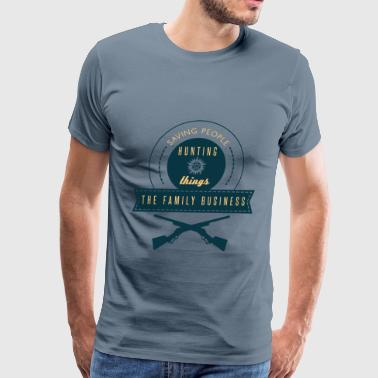 guns- saving people hunting things the family - Men's Premium T-Shirt